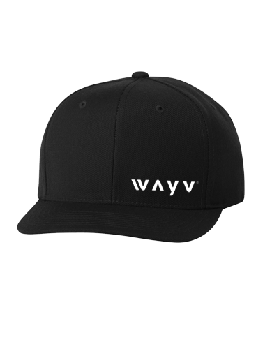 Wayv - Snapback Hat (Black) lower side