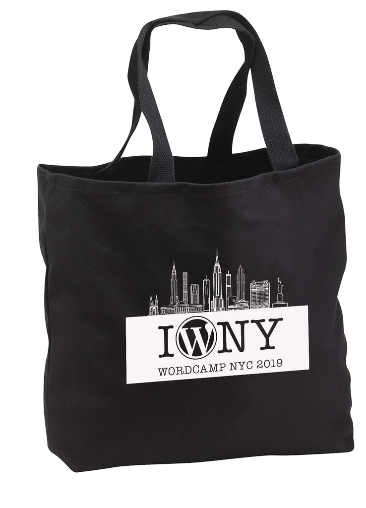 World Camp NY - Convention Tote) w/1 color imprint (BLACK)