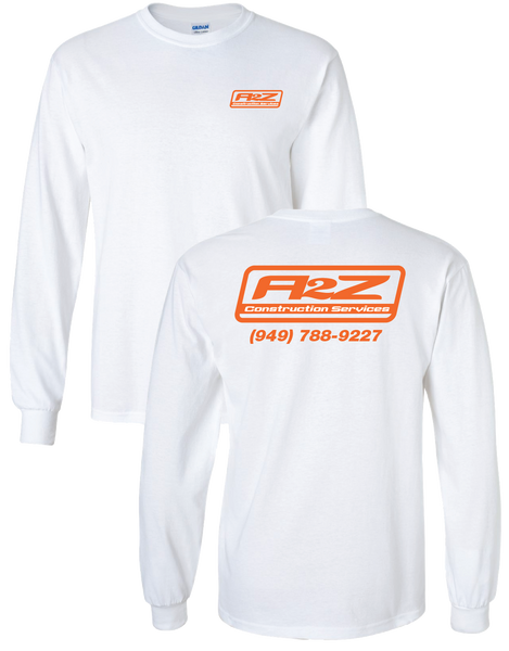 A2Z - White Longsleeve (with Orange print)