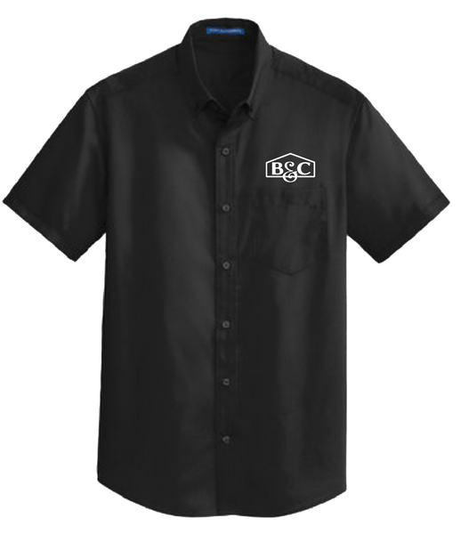 B&C Port Authority® Short Sleeve SuperPro™ Twill Shirt