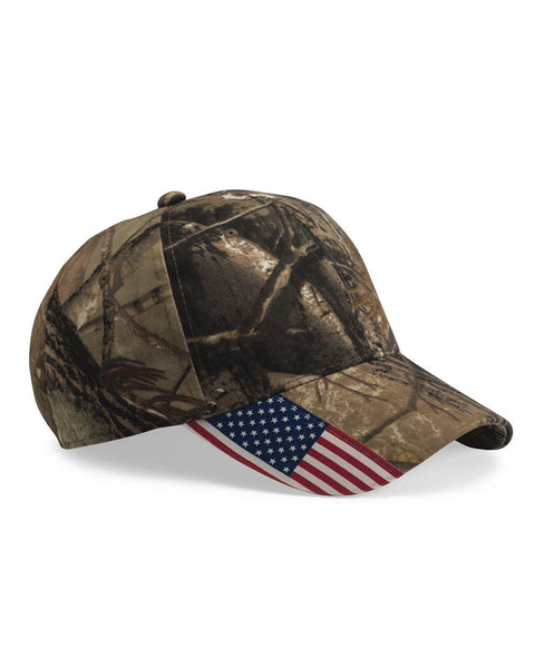 Hitch N' Post - Real Tree American Flag Hat