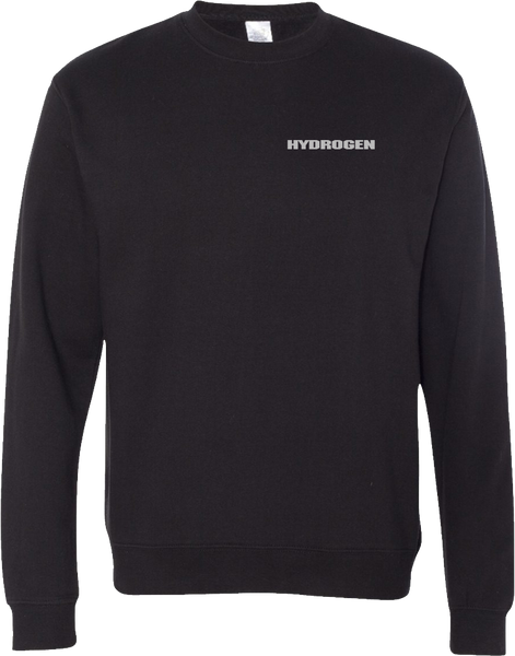 Hydrogen - Black Crewneck with Embroidery