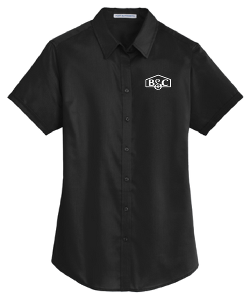 B&C Port Authority® Ladies Short Sleeve SuperPro™ Twill Shirt