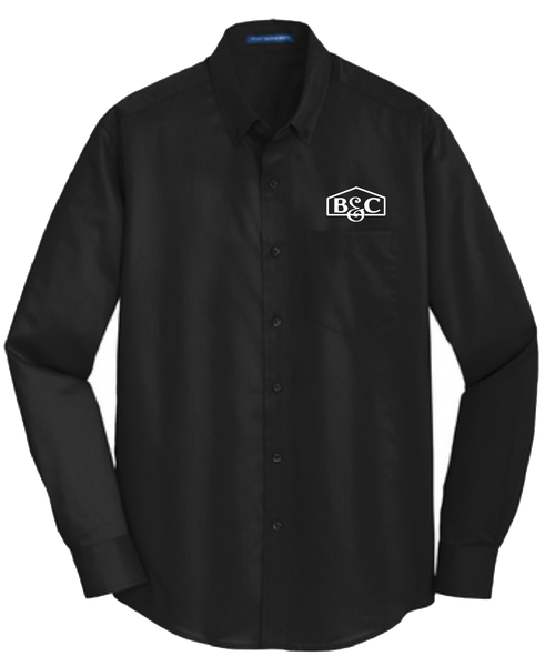 B&C Port Authority® SuperPro™ Twill Longsleeve Shirt