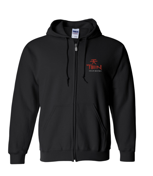 Ten Asian Bistro - Logo Zip-Hoodie