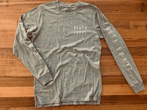 Sharp sleeve tee grey $60.00
