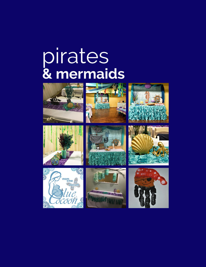 pirates & mermaids, deluxe party