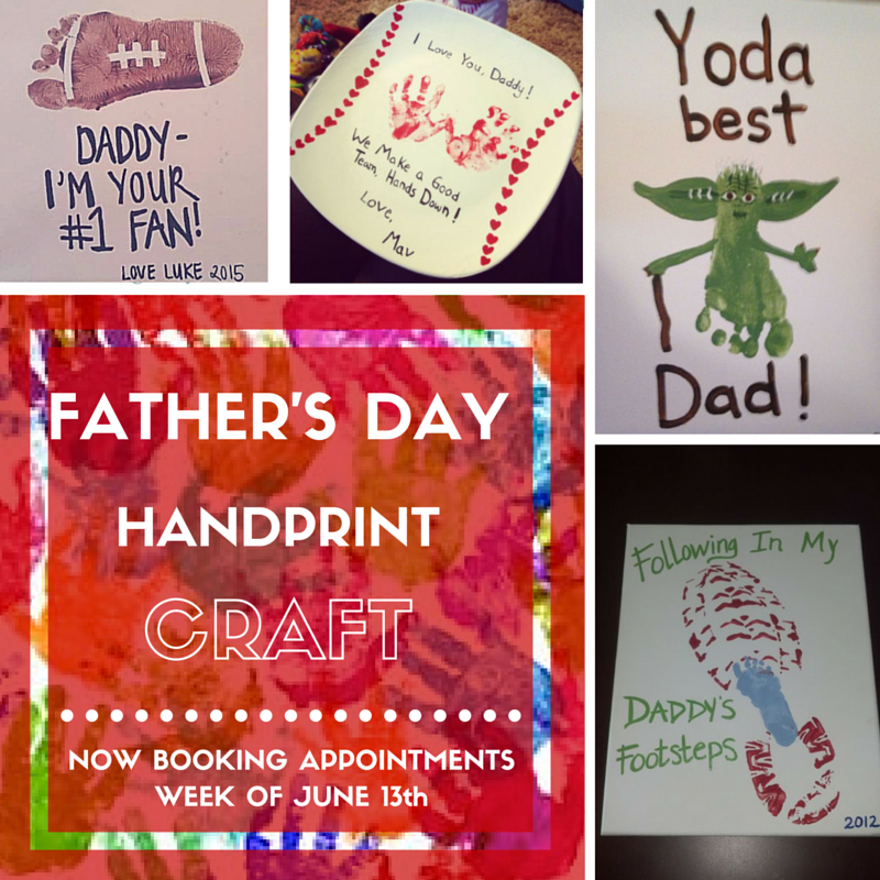 Father's Day Handprint & Footprint Keepsake