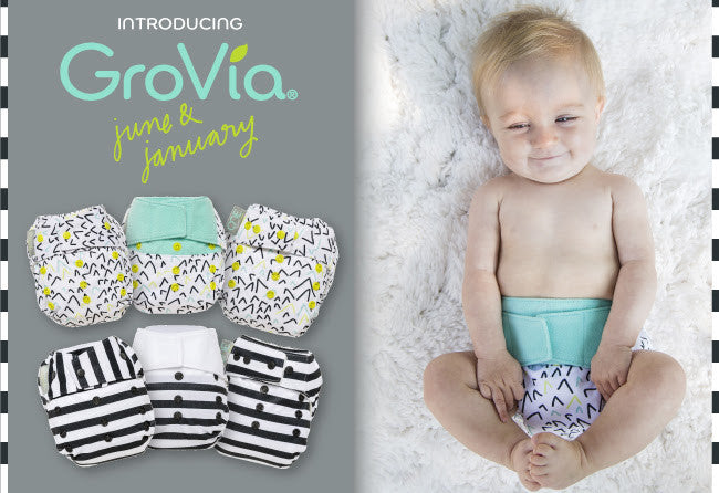 GroVia Diaper June & January Diaper Prints