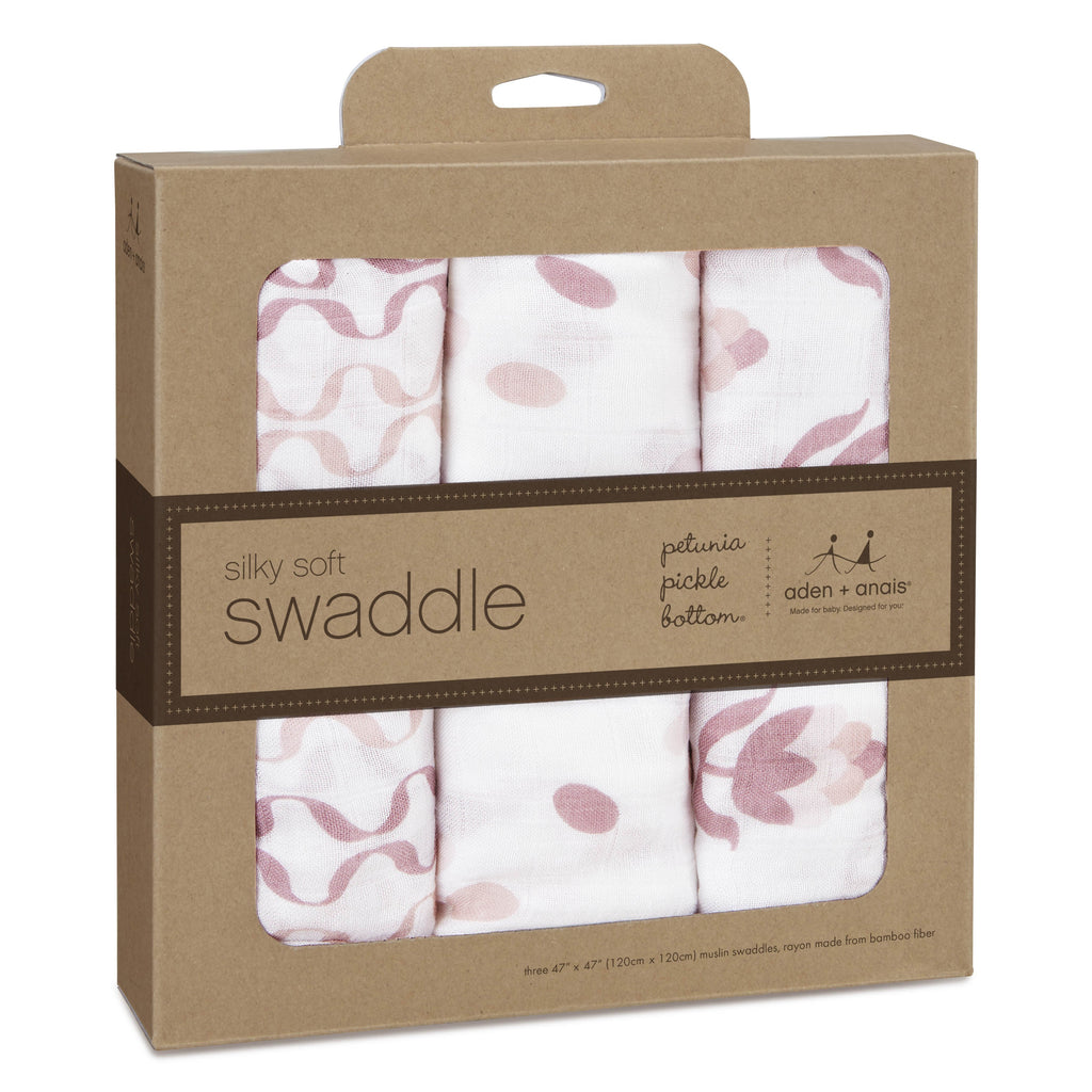 aden + anais silky soft swaddles- Petunia Pickle Bottom