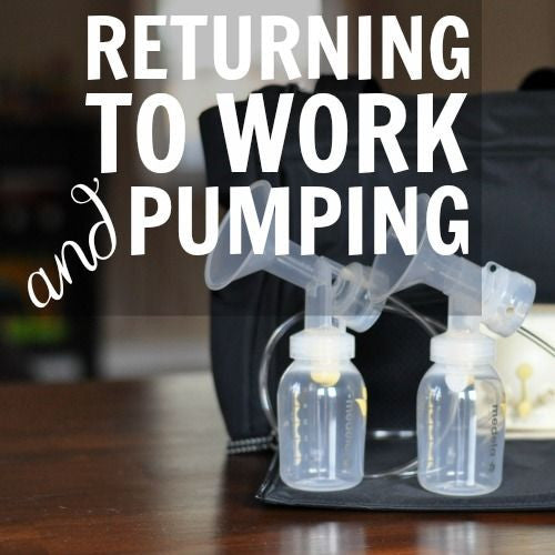 My Pumping Lifestyle, Returning to Work