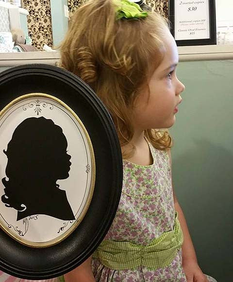 Reserve your Silhouette Appointment! Sunday, August 6th.   Free-handed by Master Artist Keith Donaldson.