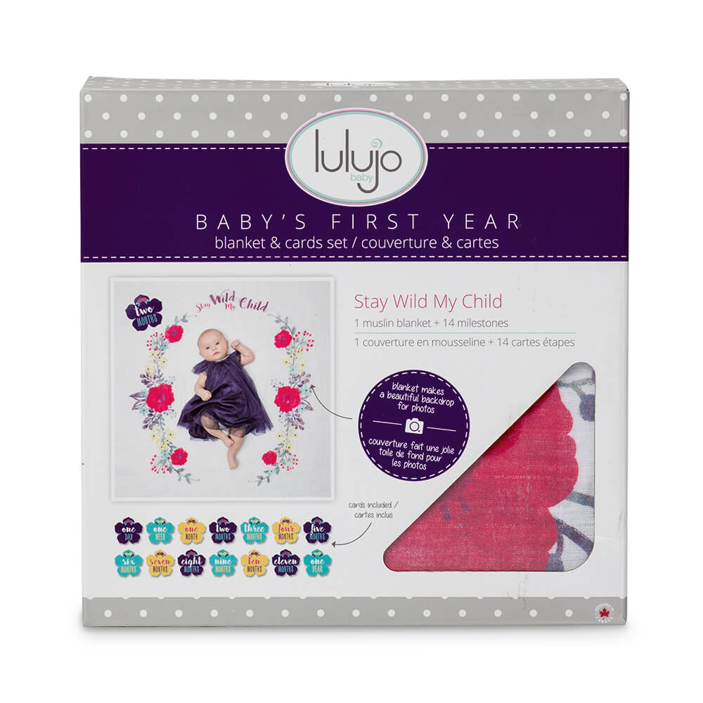 lulujo baby- Baby's First Year- Stay Wild My Child