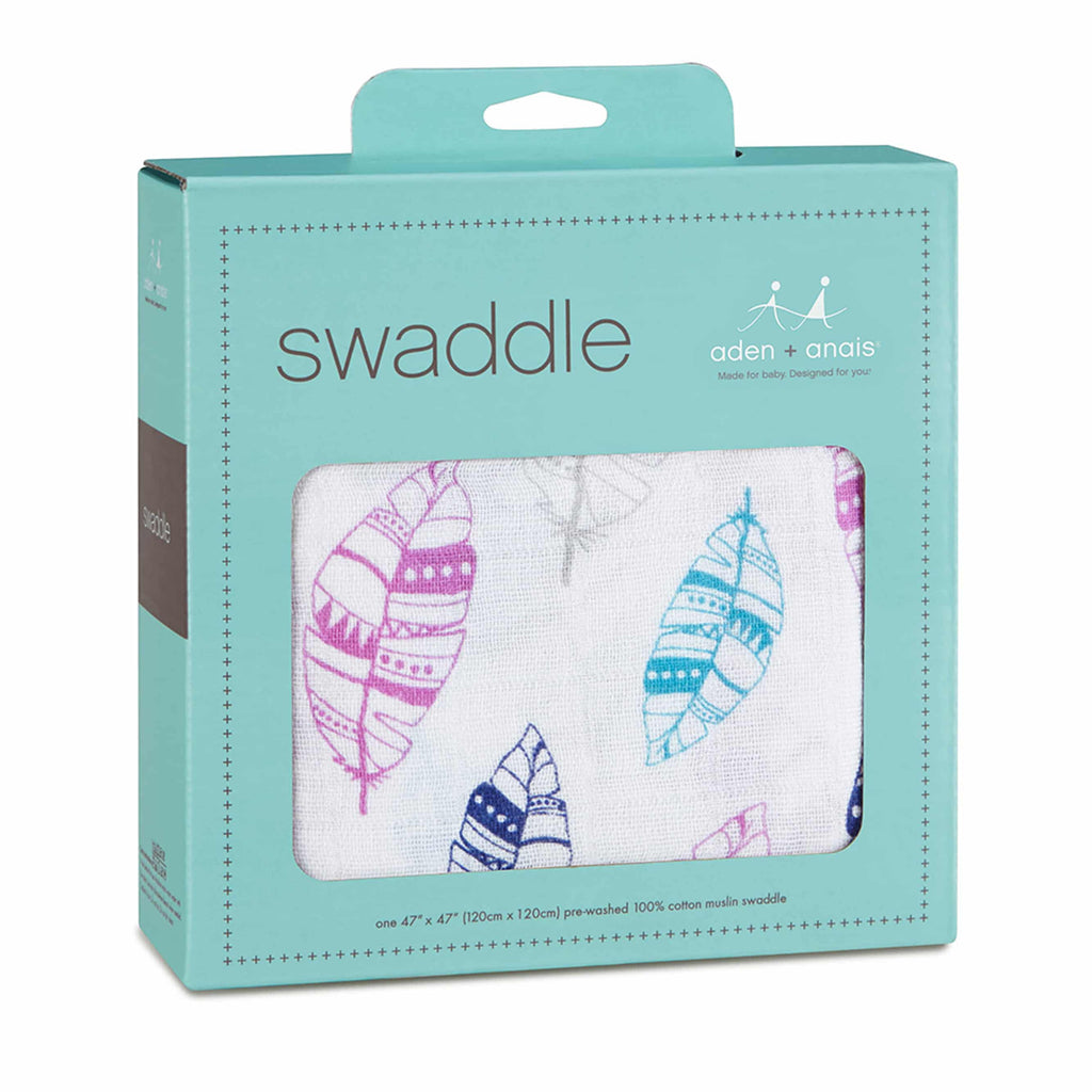 aden + anais swaddle- Wink Feathered single swaddle