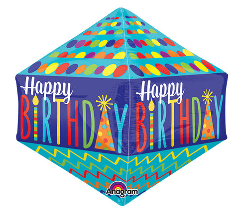 Fun Happy Birthday Mylar Shape Balloon | 1ct