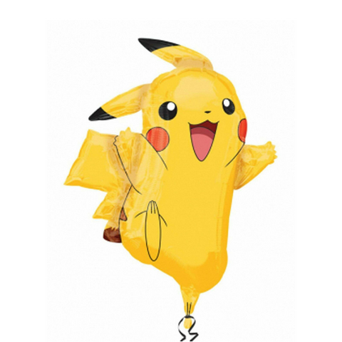 "Pikachu Supershape Foil Balloon, 24.5"" x 31'' 