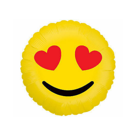 Hearts Emoji Mylar Balloon, 18'' | 1 ct