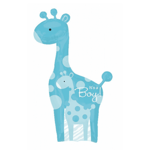 Boy Giraffe Shape Balloon, 42'' | 1 ct