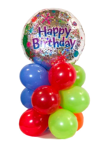 "Holographic ""Happy Birthday"" Air-Filled Bouquet"