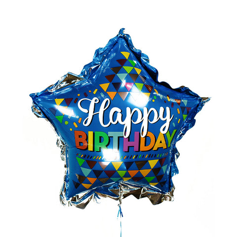 Primary Sketchy Pattern Happy Birthday Foil Balloon, 32'' | 1 ct
