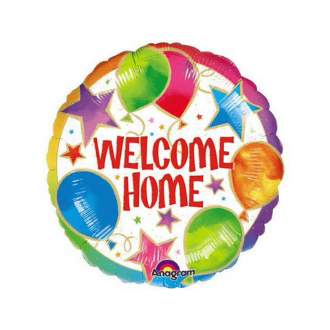"Welcome Home Balloons & Stars 18"" Mylar Balloon 