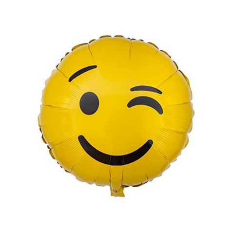 Wink Emoji Mylar Balloon, 18'' | 1 ct