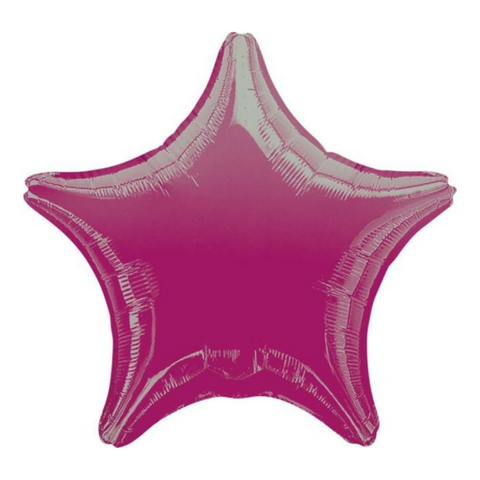 Fushia Star Balloon, 18'' | 1 ct