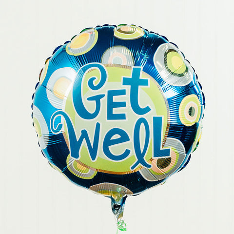 "Get Well Dots 18"" Mylar Balloon 