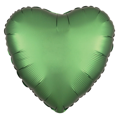 Emerald Satin Heart Balloon, 18'' | 1 ct