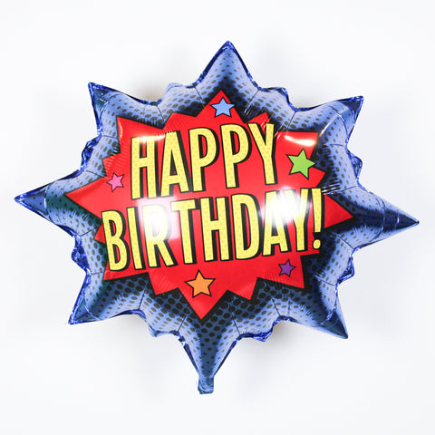 Superhero Birthday Burst Balloon 32"