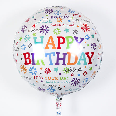 Happy Birthday Multi-Star Supershape Foil Balloon, 28'' | 1ct