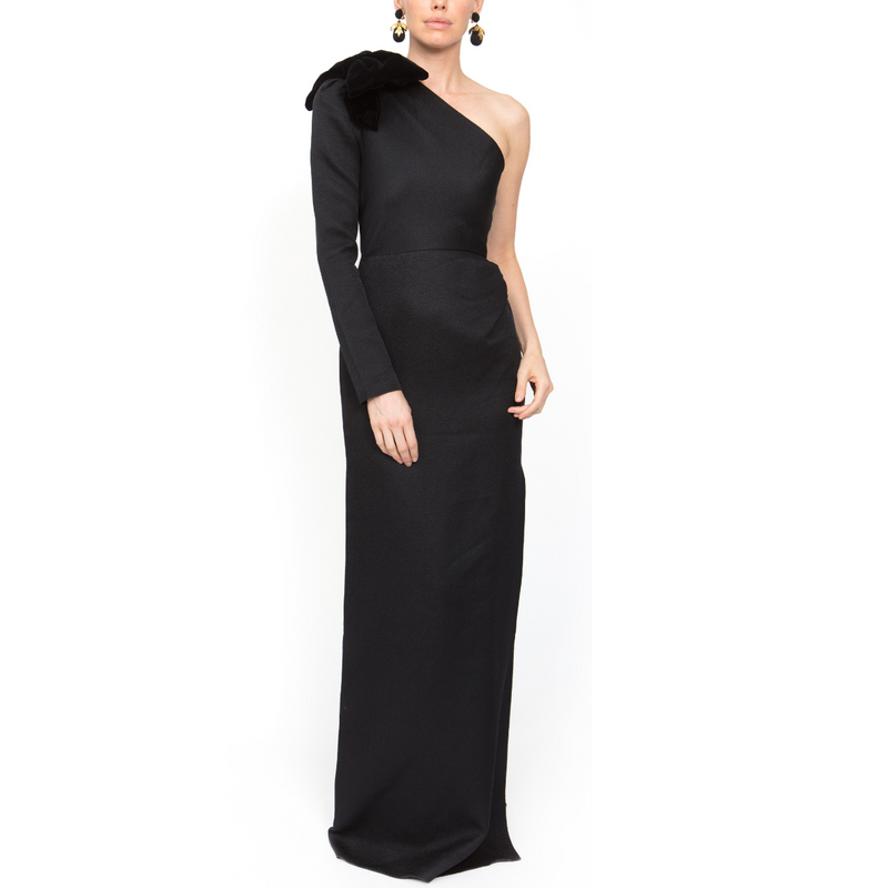 One Shoulder Gown - Black - Rebecca de Ravenel LLC, A Delaware Limited Liability Company