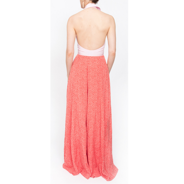 Fortuna Dress - Pale Pink/Red - Rebecca de Ravenel LLC, A Delaware Limited Liability Company