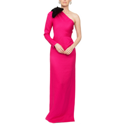 One Shoulder Gown - Pink - Rebecca de Ravenel LLC, A Delaware Limited Liability Company