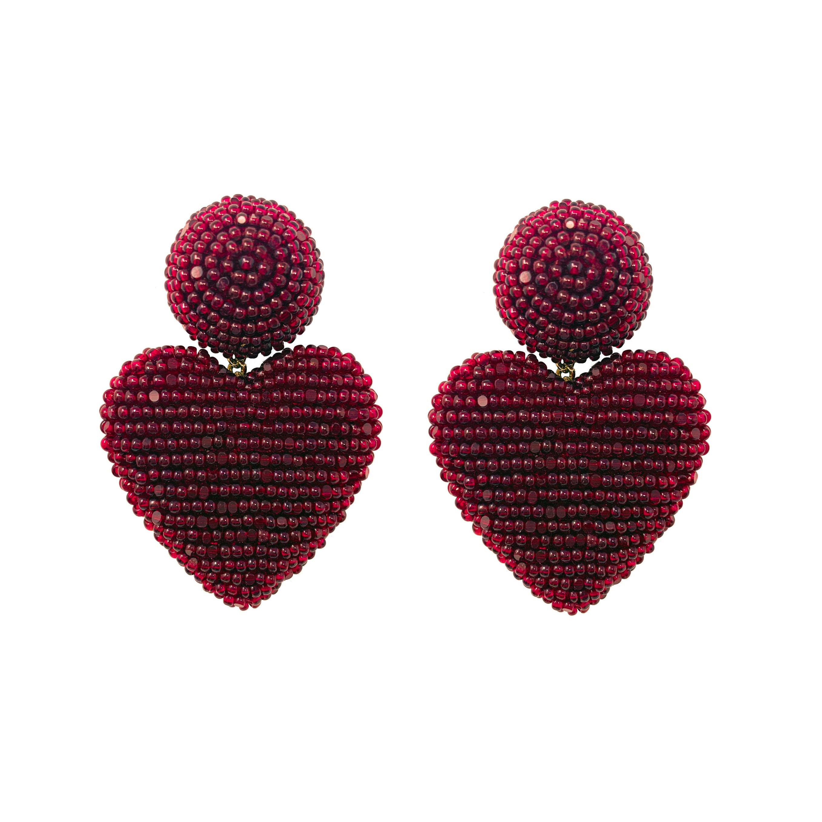 Mini Cora - Beaded burgundy