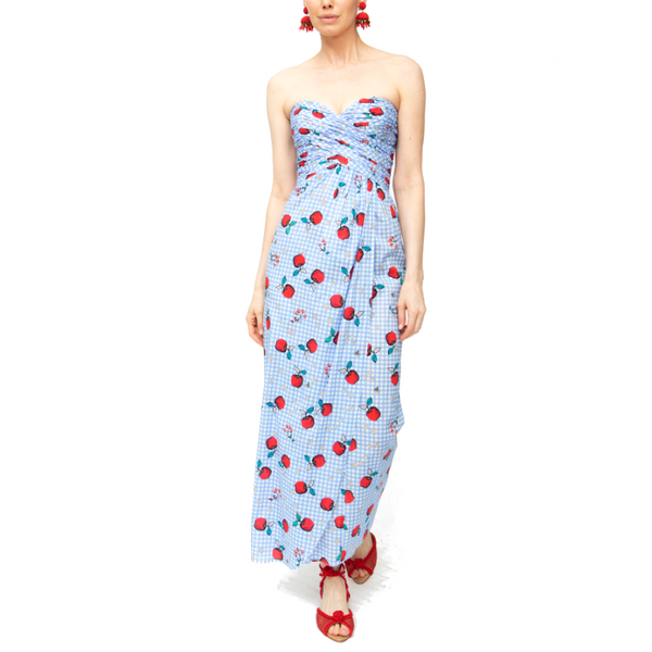 Dandelion Strapless Dress - Flying Fruit - Rebecca de Ravenel LLC, A Delaware Limited Liability Company