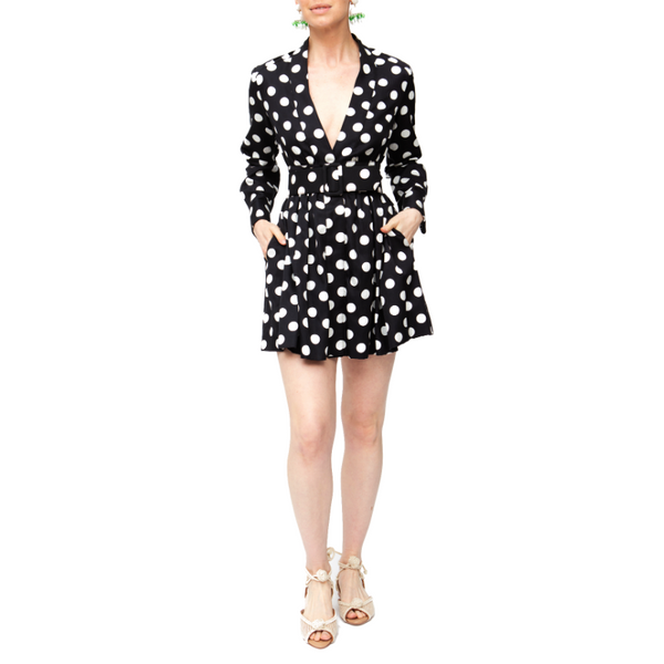 Short Field Dress - Black/White - Rebecca de Ravenel LLC, A Delaware Limited Liability Company