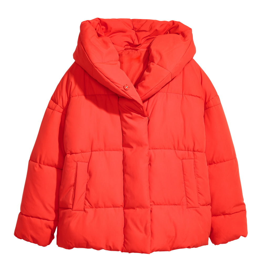 Red Oversized Puffer
