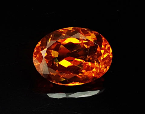 Rare Large 11.5 Carat Natural Clinohumite Oval Cut Collector's Gem Stone