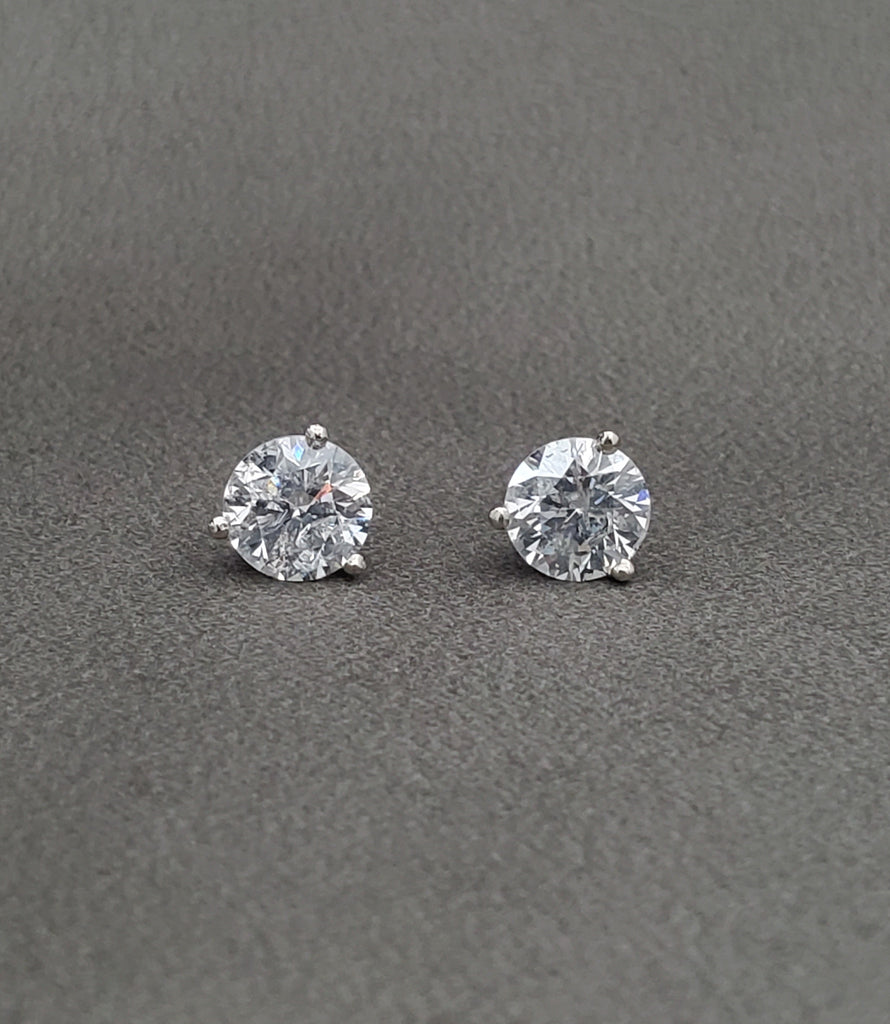 1/3 Carat Diamond Studs 14K White Gold