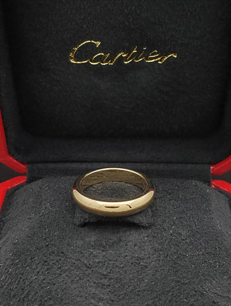 Cartier 18K Yellow Gold 4mm Wide Wedding Band Ring US Size 5.75 Euro Size 51