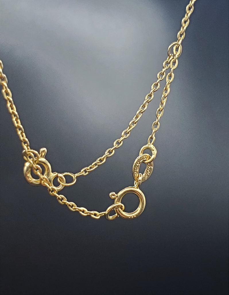 Cartier Trinity Necklace 18k Gold Mini Trinity Ring on Chain 16in.