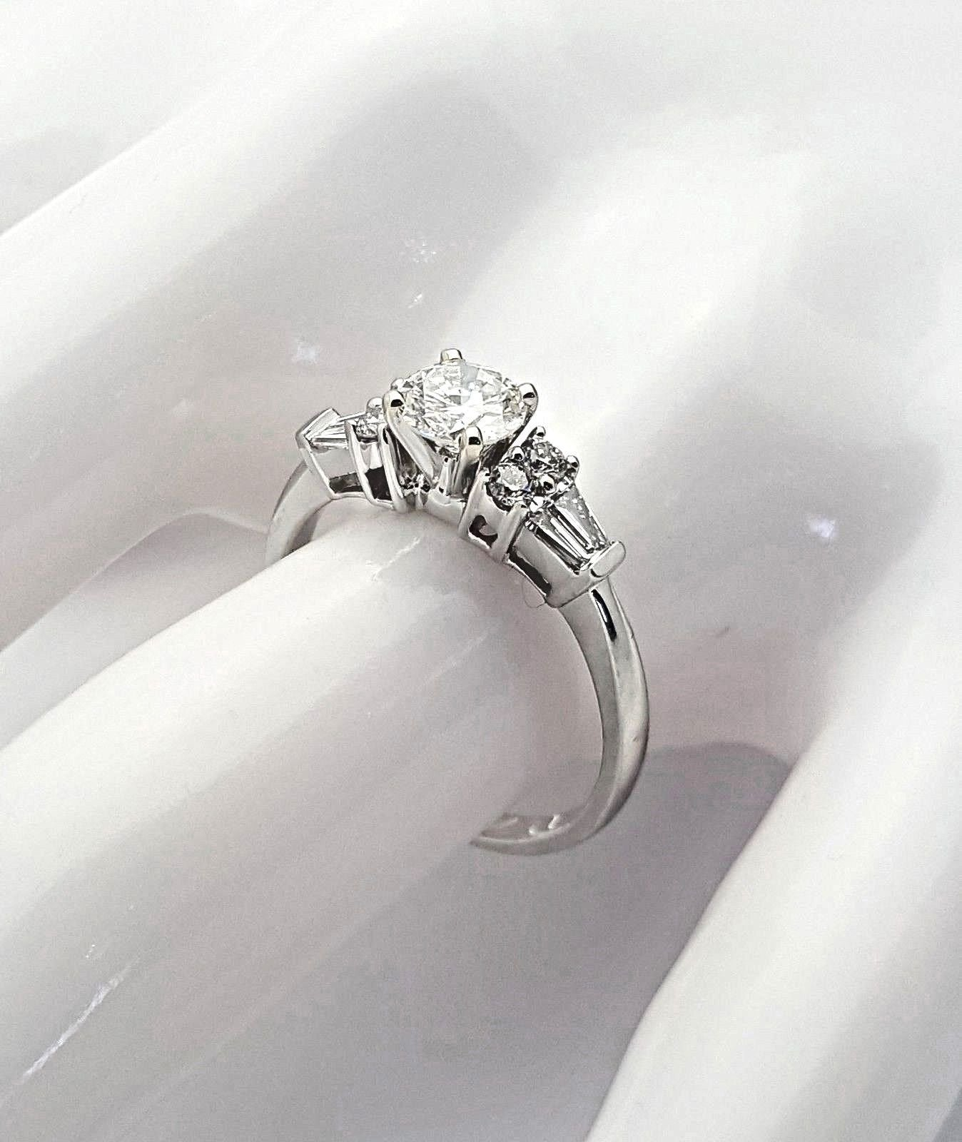 shank engagement ring set rings round diamond twist french products cut pave halo