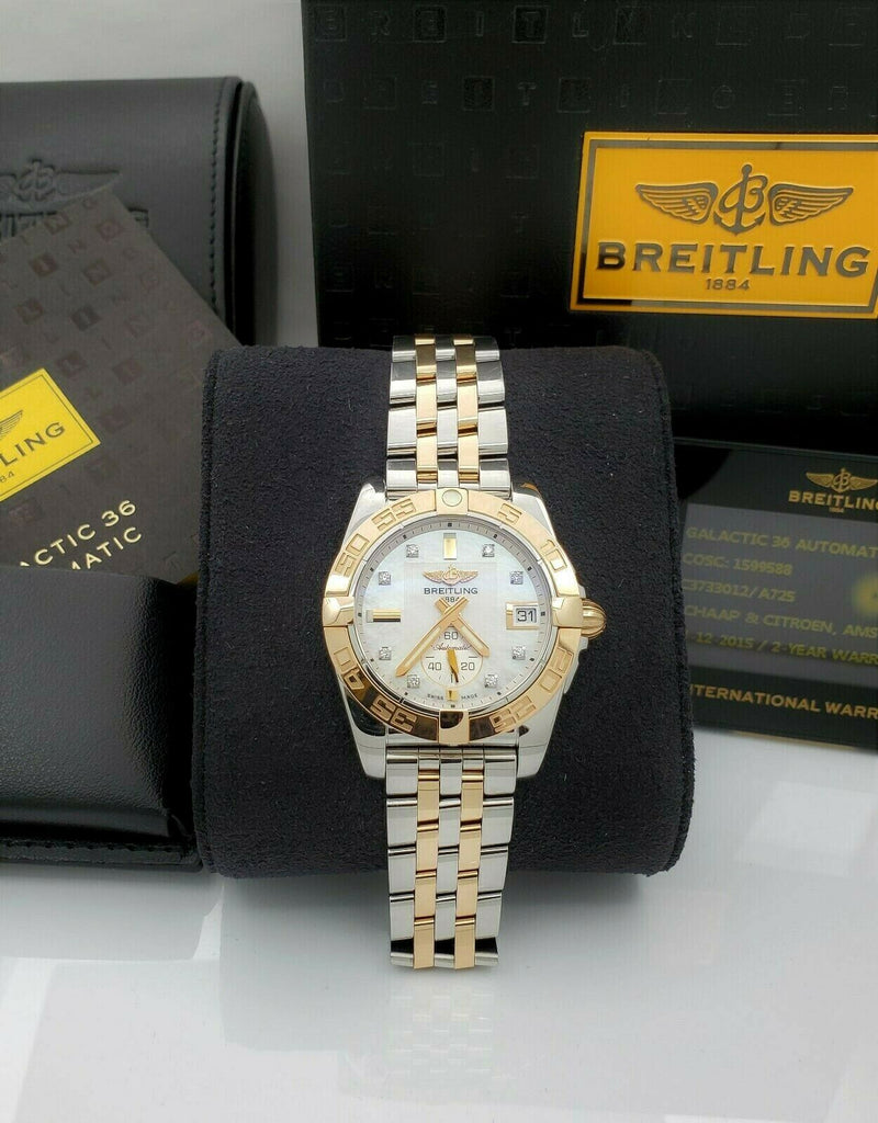 Breitling Galactic 36mm Automatic C37330 18K Rose Gold Diamond Dial