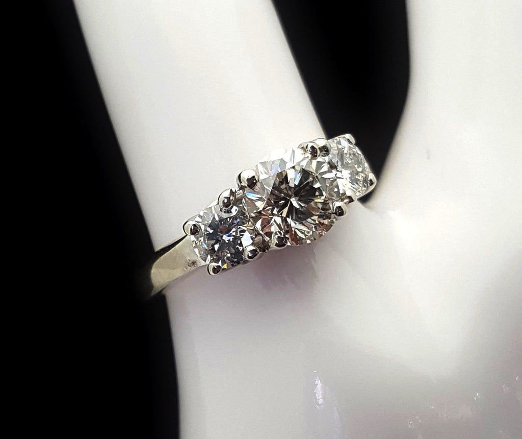 .87 Carat 3 Stone Engagement Ring