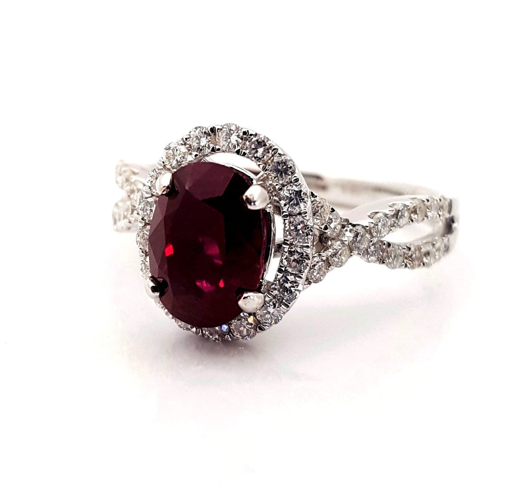 ruby wedding ring 2 carat ruby amp engagement ring 7179