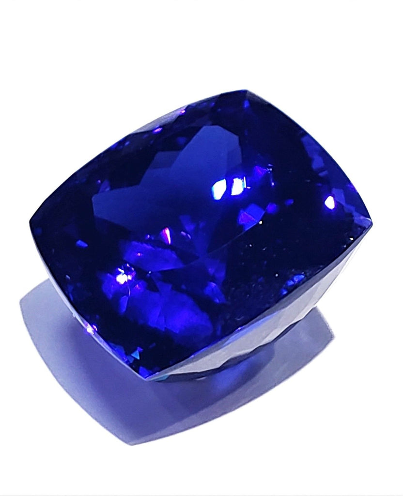 Large 31 Carat Cushion Cut Natural Tanzanite