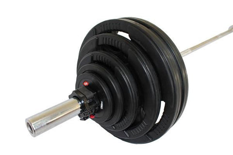 310lb Olympic Rubber Weight Set - Hyper FItness