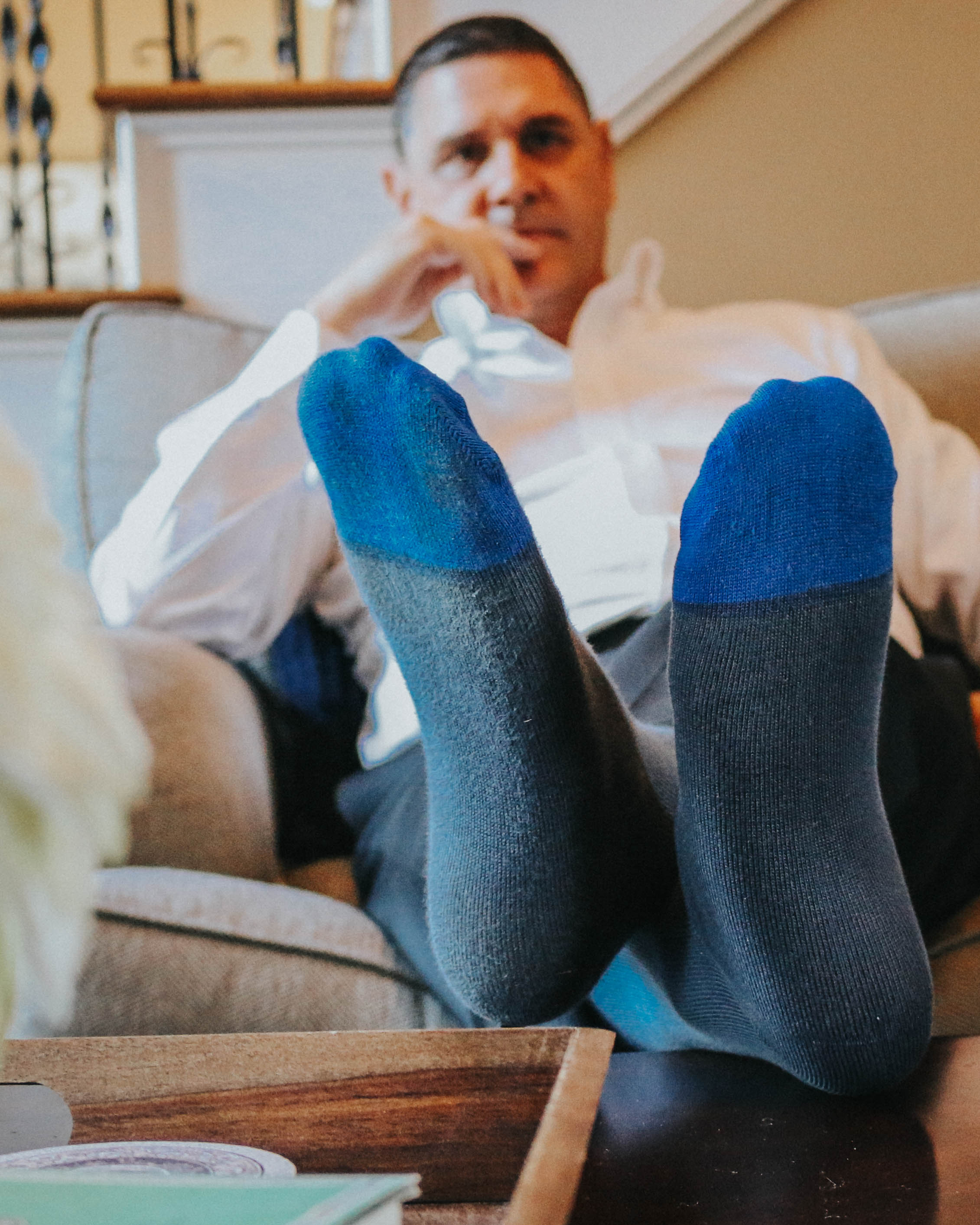 Blue Toe Socks