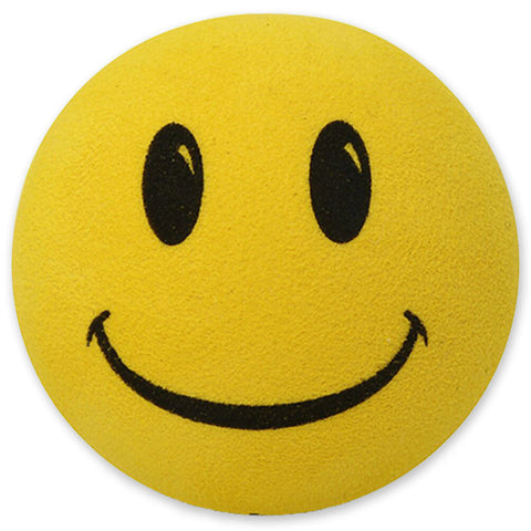 ..HappyBalls Happy Smiley Face Car Antenna Topper / Desktop Spring Stand Bobble (Yellow)